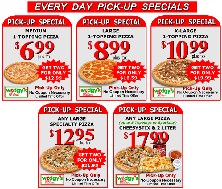 Every day Carry Out Specials!