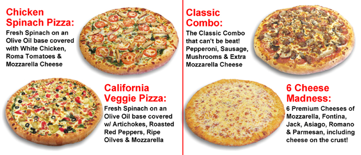 Specialty Pizzas ...... what's your favorite?